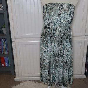 Yummy Gray & Teal Tube Dress 2x